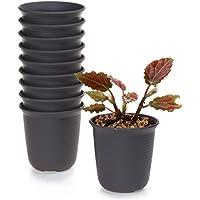 T4U 8CM Pots En résine rond Série /Plante Succulente/Plante en Pot/Pot De Fleur/Cultiver,Décoration de Jardin 1 Paquet de 10
