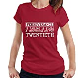 Coto7 Perseverance Is Failing Nineteen Times Julie Andrews Quote Women's T-Shirt