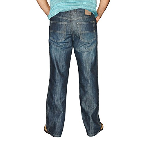 Stooker Memphis / Mike / Montana Herren 5-Pocket Jeans Hose (1175) Dark Tinted Used - 7542