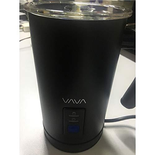 Automatischer Milchschäumer VAVA Elektrischer Milchaufschäumer 240 ml 500 Milk Frother für Heiße und kalte Milch Aufschäumen Antihaftbeschichtet Auto-Abschaltfunktion Schwarz aus Edelstahl