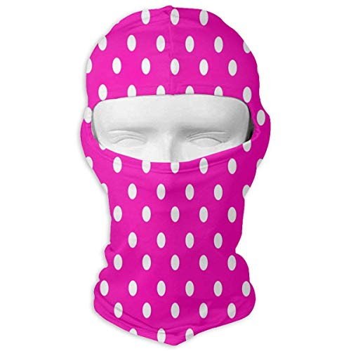 Bikofhd Balaclava Pink Polka Dot Full Face Masks Motorcycle Neck Hood Polka Dot Hood