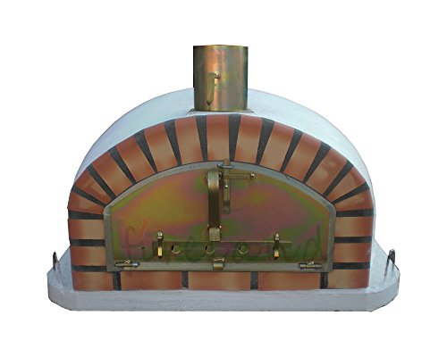 Outdoor Brick Pizza Oven 100 x 100cm Wood Fired Bread, Meat Margherita Garden Barbecue