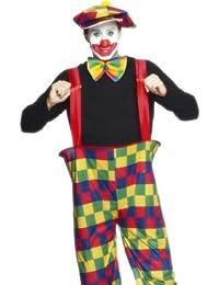 Smiffy's Adult men's Hooped Clown Costume