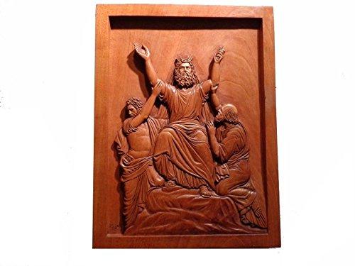 Relief Moses dans la prière avec Aron et Hur