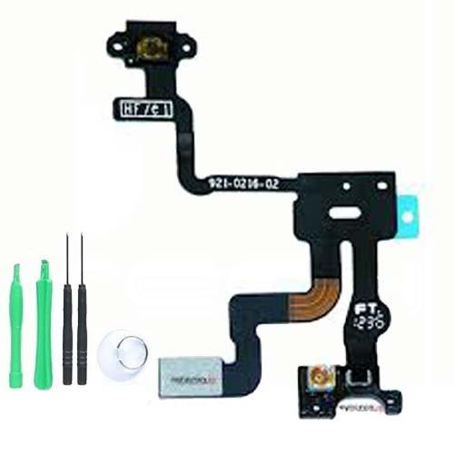 iPhone 4S 8 GB 16 GB 32 GB 64 GB Ersatz Ein Aus Schalter und Lichtsensor Flex Kabel * inklusive Werkzeuge zum Auseinanderbau des Telefons und Schritt für Schritt Anleitung**