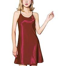 JiaMeng - Pijama - Moda - Satén Lotus Hem Sling - para Mujer - JMQQ34