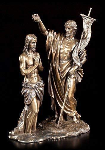Jesus Figur - Taufe durch Johannes | Veronese Täufer Christus Statue christlich religiös