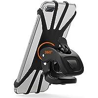 Vobon Handyhalterung Fahrrad, 360°Rotation Telefonhalter für iPhone X/8/7/6 Plus, Samsung Galaxy & allen Handy mit 4,5-6,0 Zoll, Universal Silikon Verstellbarer Handyhalter für Fahrrad Motorrad