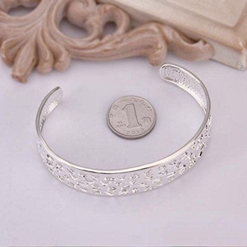 New Fashion Jewelry Classic 925 Sytle Women solid Silver Jewelry bracelet + velvet pouch JpYpI