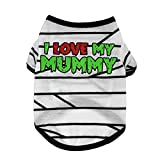 Homeofying Hunde-T-Shirt, kurzärmelig, Aufschrift I Love My Mummy, gestreift
