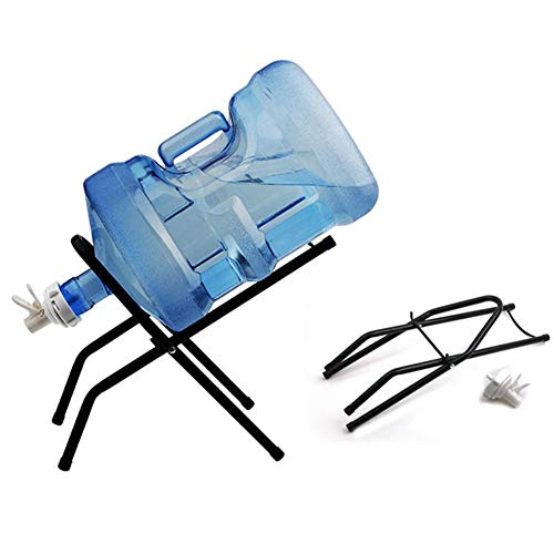 RecoverLOVE Metall Wasserkrug Stand und Dispenser Ventile Flasche Krug Getränk Dispenser Kühler Faltbare Cradle Stand Metall Rack Halter rutschfeste Wasserstand Für Outdoor Camping