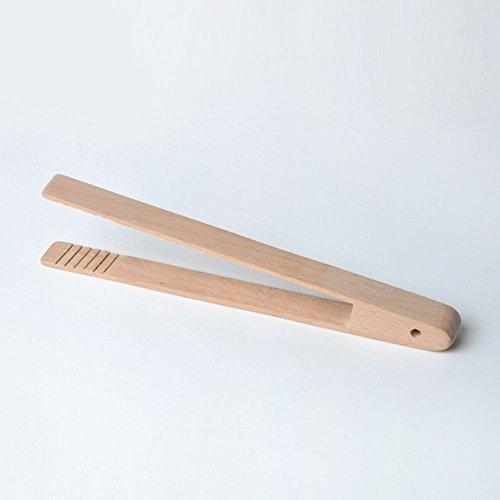 Buche Barbecue Clip, Hölzerne Lebensmittel Toast Zange Toaster Bacon Zucker Ice Tea Tong Great Ideal für die Küche oder BBQ - Wie Abgebildet Show, 20cm x 4cm