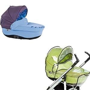Bébé Confort - Nacelle Windoo avec habillage de pluie - Vegetal Blue 2010