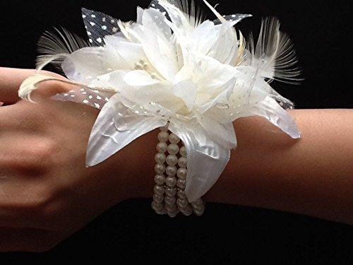 ivory-cream-wrist-corsage-fascinator-fabric-feather-pearlised-wrist-band-bracelet