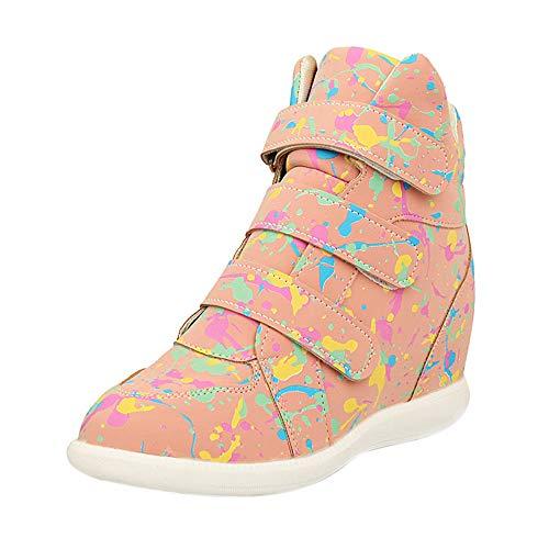 MYMYG Damen Freizeit Winter Schuhe Student mit flachem -