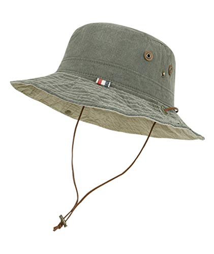 ecd43887cba ililily Washed Cotton Vintage Hunting Fishing Camping Outdoor Boonie Bucket  Hat