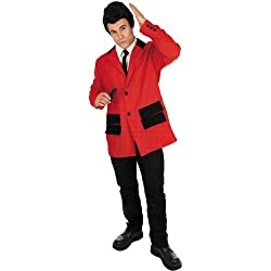 RED TEDDY BOY Adult Fancy Dress Costume All Sizes