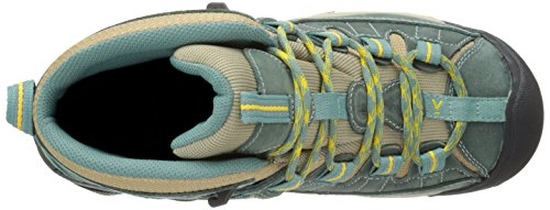 Keen Targhee Ii Mid Wp, Scarpe da Arrampicata Alta Donna Mineral Blue/Ceylon Yellow