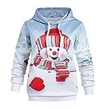 i-uend Weihnachten Kindermantel - Kinder Baby Mädchen Jungen 3D Print Kapuzenoberteil Sweatshirt Kleidung für 4-9 Jahre