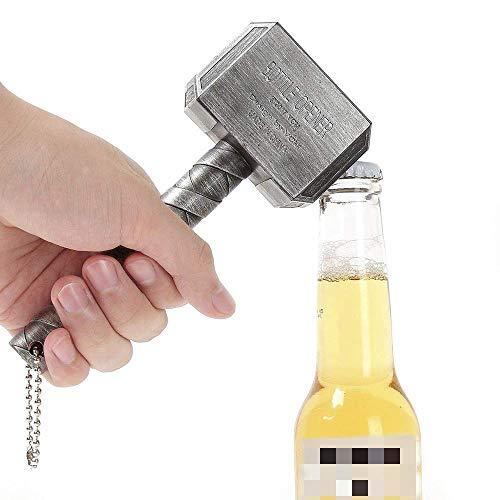 ALIXIN-Mjolnir Quake Bierflaschenöffner,hat die Form von Thors Hammer,perfekt für die Bar und den häuslichen Gebrauch,Kriegshammer-Stil,großartiges Festival-Geschenk,empfehlenswert für Bier.