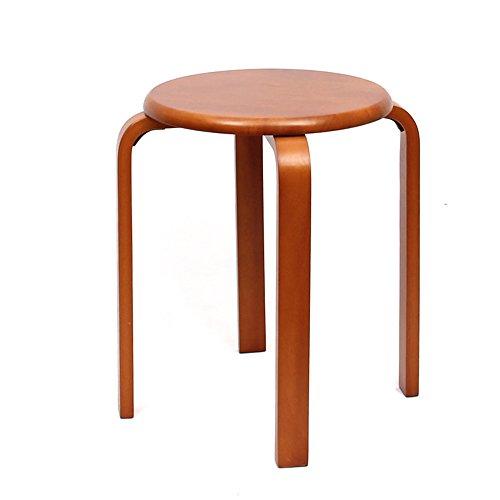 KFXL yizi Tabouret en bois massif tabouret maison en bois table à manger chaise banc 3 couleurs en option 4 chaises (Couleur : C)