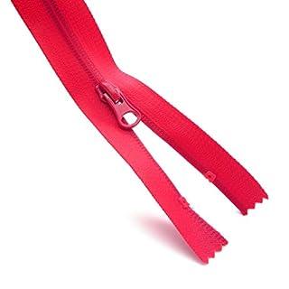 olas Waterproof Coil Zip/Water Resistant Open Ended Zipper - Made in Europe (18 cm, Red)