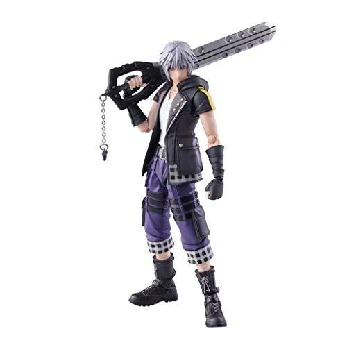 Siyushop Figura de acción Riku Bring Arts, Equipada con Armas y Manos reemplazables, Alta 16.5 cm