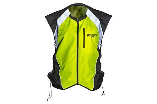 Badass Moto Gear - Hallo Vis Reflektierende helle gelbe Motorrad / Motorsport-Weste (X-Large)