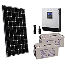 PuntoEnergia Italia - Kit Solar Rifugio Pro 300W 24V Panel Fotovoltaico Inversor 3000W bateria 60Ah - KBA-300XP-24-3000-B60-AVF