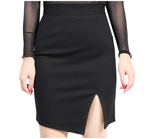 Tootlessly-Women Damen Rock Gr. Large, schwarz Bow-front Pencil-skirt