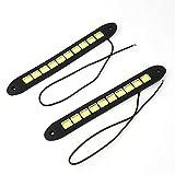 1 Para Fabrik Preis High Power 26 cm Wasserdichte LED Tageslicht Lauflicht Bar Flexible Led-streifen DRL Switchback Scheinwerfer - Weiß