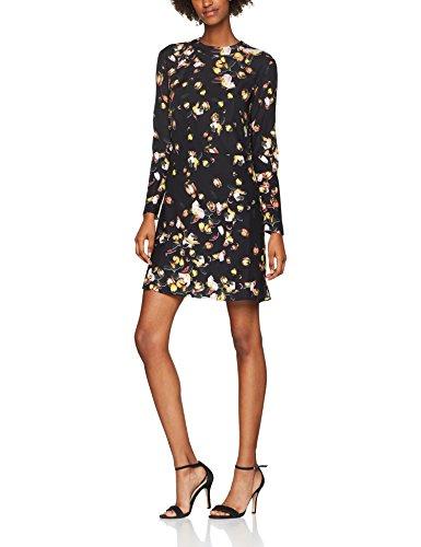 Cacharel Damen Kleid Robe Droite A Manches Longues, Schwarz (Noir 999), 32 (Herstellergröße:34) Noir Seide