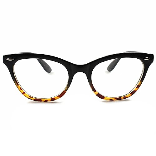 Kiss occhiali neutri cat eye mod. pin-up - montatura da vista donna cult rockabilly vintage - nero e havana