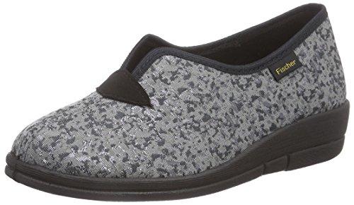 FischerDora HS - Pantofole basse Donna Argento (Silber (802 mamor))