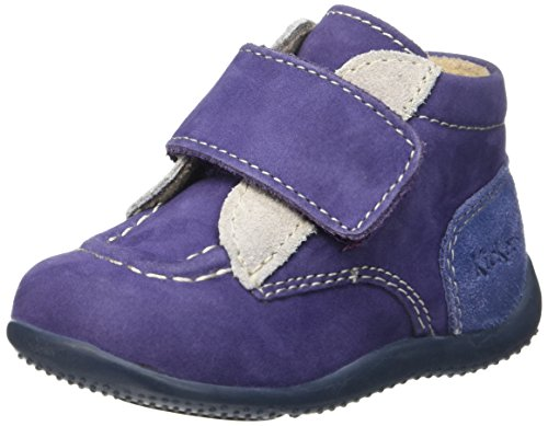 Kickers Bono, Chaussures Premiers Pas Bébé Garçon Bleu (Marine/Gris/Bleu)