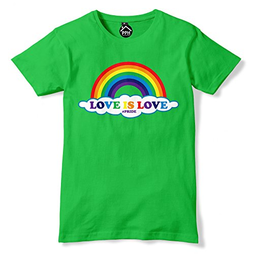 Love is Love Gay Pride Mens Rainbow T Shirt (Boys-t-shirts Irish Love)