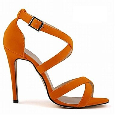 Zhenfu Chaussures Femme Tissu Stiletto Talon Talons / Open Toe Party Sandales / Plus De Couleurs Orange