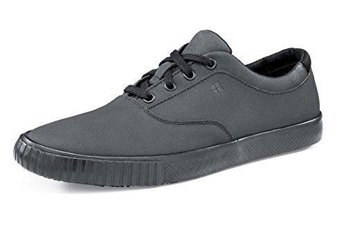 Scarpe da ginnastica da donna, stile old school, basse, antiscivolo, colore nero, modello 33464, 7, 1
