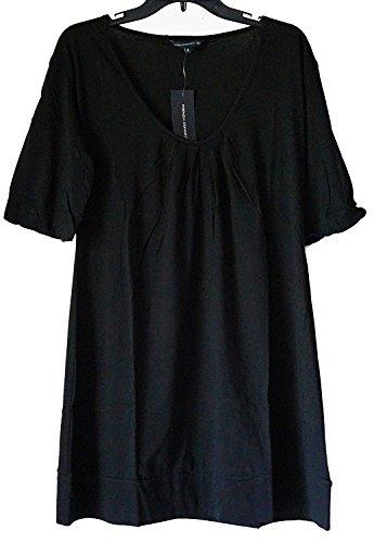 French Connection-schwarz-baumwolle (French Connection Bell Sleeve 100% Baumwolle Shift Minikleid Schwarz)