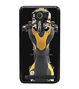 PrintVisa Designer Back Case Cover for Asus Zenfone 2 Laser ZE550KL (5.5 Inches) (Bike Motorcycle Cute Ariel View Automobile)