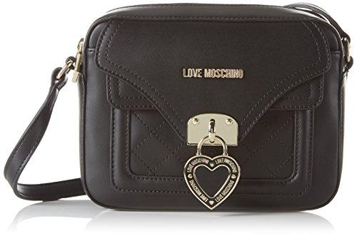 Love Moschino Damen JC4100 Umhängetasche Schwarz (black)