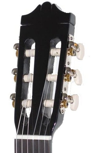 Yamaha C40BLII Konzertgitarre schwarz – Hochwertige Akustikgitarre für Einsteiger in edlem Design – 4/4 Gitarre aus Holz