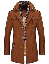 Manteaux Homme ADESHOP Mode Hommes Trench-Coat en Laine Les Loisirs Sport  Running Blousons Outwear ÉPaissir Manteau De Laine Affaires… ff35248d1f8