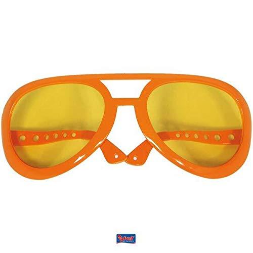 Xxl Pimp Kostüm - Folat Orange XXL-Brille 50s Party-Pimp