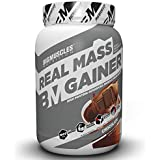 Bigmuscles Nutrition Real Mass Gainer [1Kg, Chocolate], Lean Whey Protein Muscle Mass Gainer, Complex Carbohydrates,1000 Calories per serving,13 Servings