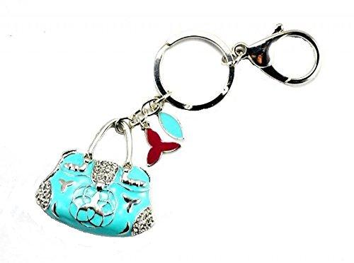 Türkis Damen Schlüsselanhänger, Anhänger, Ring und Kette Modeschmuck Kostüm Geschenkidee (Türkis Kostüm Schmuck Uk)