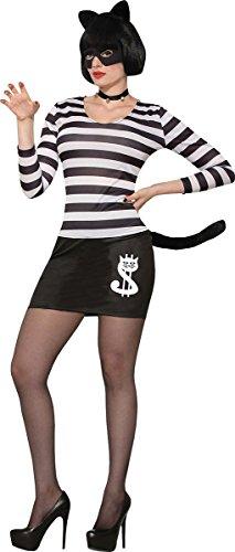 Räuber Kostüm Weibliche - onlyglobal Damen Halloween Kostüm Party Katze Einbrecher weibliche Kostüm UK Größe 10-14
