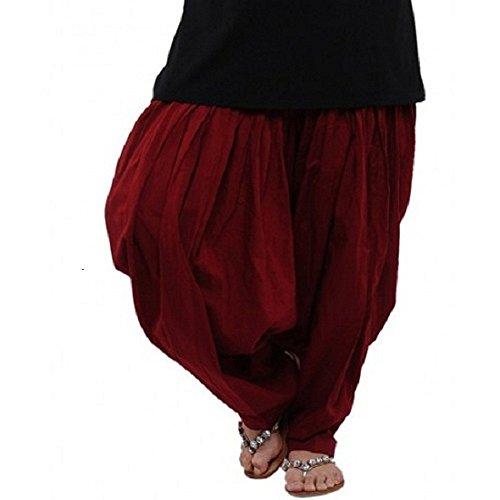 Pistaa Maroon Cotton Patiala Salwar
