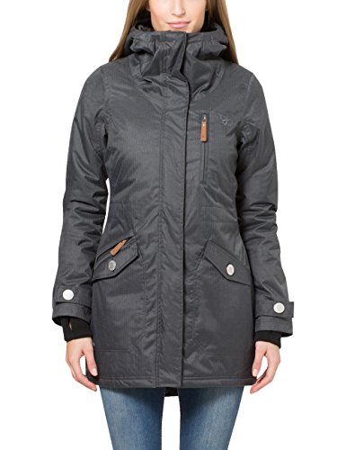 Berydale Parka mujer capucha lazos pulgares, Gris