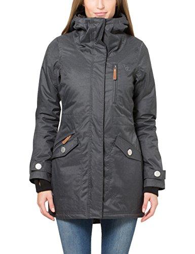 Berydale Damen Parka Jacke wasser- und winddicht, Gr. 40 (Herstellergröße: L), Schwarz (Schwarz/Grau)